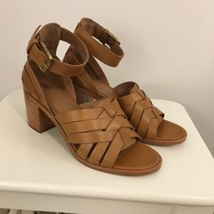 Frye Biance Hurarche 2 Piece Tan Sandals - New